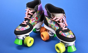 Rollerama: Skating Package with Pizza and Glow Item for Two or Four at Rollerama (Up to 51% Off)