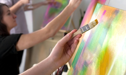 $179 for a Corks & Canvas Lady's Night Out for Up to Six at Pink Elephant Pottery Studio ($360 Value)