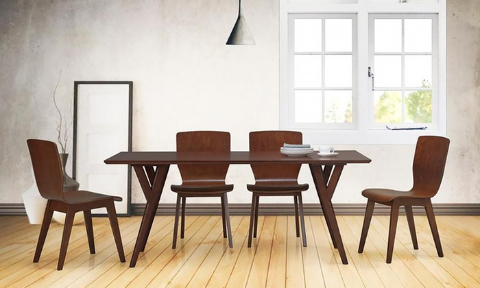 Mid Century Modern Dining Room Chairs mid-century modern dining set | groupon goods