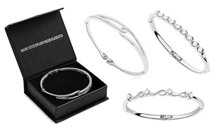 Pulseira com Swarovski Elements de modelo Ribbon, Solitaire Twist ou Link desde 14,99€