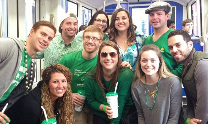 Atlanta Streetcar St. Patty's Day Weekend Bar Crawl - Multiple Locations: General Admission for 1 or 2, or VIP Ticket for 1 to Atlanta Streetcar St. Patty's Day Bar Crawl (Up to 34% Off)
