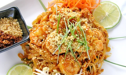 Thai Lunch or Dinner for Two, Four, Take-Out, or Delivery at Mango Thai Restaurant (Up to 52% Off)
