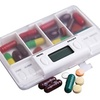 Portable 4-Grid LCD Digital Pill Case Reminder
