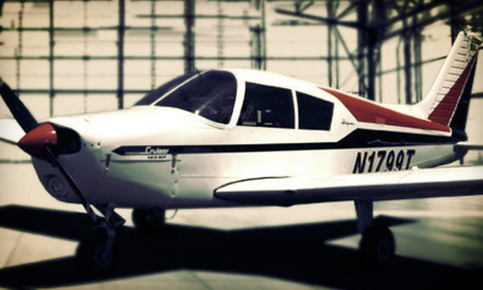 Crosswinds Flight School - Monroe: In-Air Flight Lesson for One at Crosswinds Flight School (Up to 53% Off)