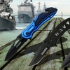 """4.5"""" Stainless Steel Navy Themed Rescue Knife"""