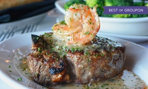 Myron's Prime Steakhouse San Antonio: Steakhouse Dinner for Two or Four at Myron's Prime Steakhouse - San Antonio (40% Off)