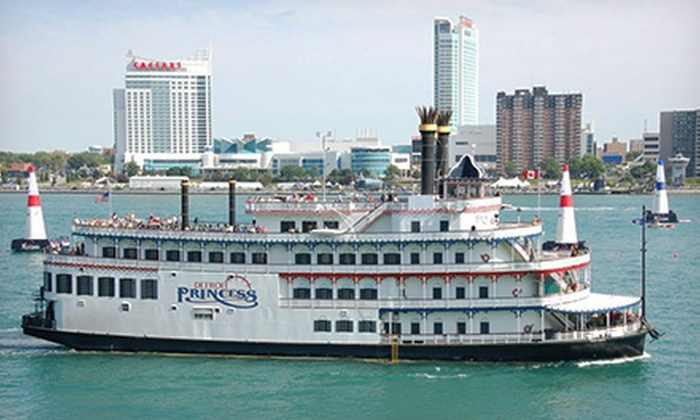 """Detroit Princess Riverboat - Downtown: Moonlight Cruise for Two or Four on the """"Detroit Princess"""" Riverboat (Up to 54% Off)"""