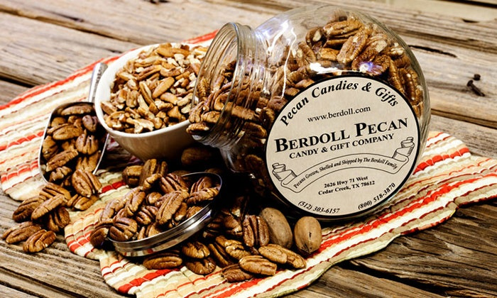 Berdoll Pecan Candy & Gift Co. - Cedar Creek-Red Rock: Pecan Candies, Baked Goods, and Gifts at Berdoll Pecan Candy & Gift Co. (50% Off). Two Options Available.