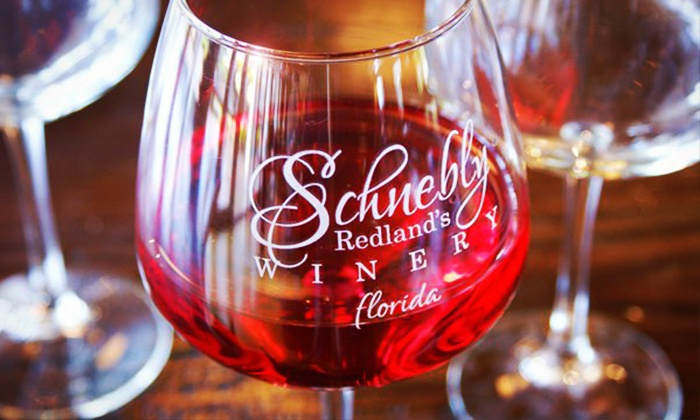 Schnebly Redland's Winery & Miami Brewing Company - Homestead: $59 for a Craft Beer- or Wine-Tasting at Schnebly Redland's Winery & Miami Brewery ($132.95 Value)