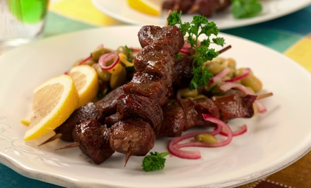 Mediterranean Food and Drinks at Al Maidah Mediterranean Grill (Up to 35% Off). Three Options Available.