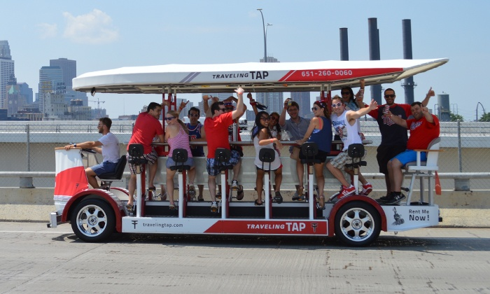 Traveling Tap - Multiple Locations: Two-Hour Pedal-Powered Ride on the Traveling Tap for Up to 16 People (40% Off)
