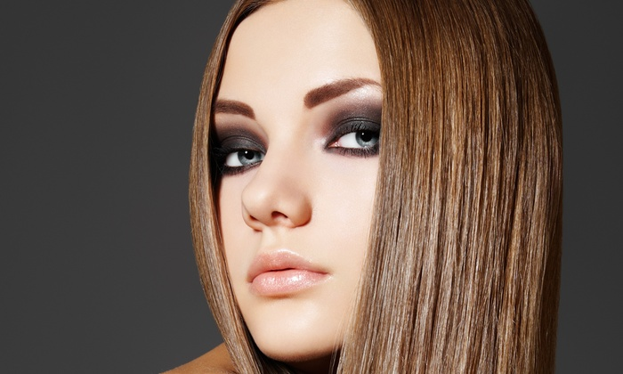 Hair Distinctions - Temple Terrace: Haircut with Optional Color Retouch, Partial Highlights, or Relaxer at Hair Distinctions (Up to 68% Off)