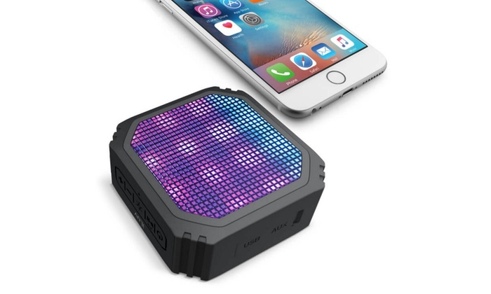 iLuv Aud Mini Party Portable Bluetooth Speaker with LED Light Show: iLuv Aud Mini Party Portable Bluetooth Speaker with Built-In LED Light Show
