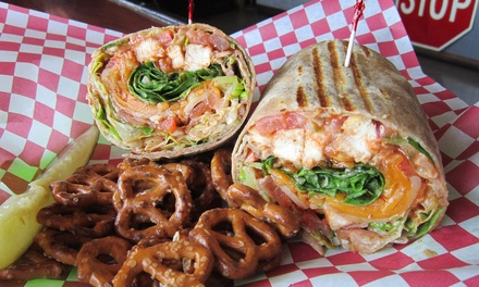 $6 for $10 Worth of Gourmet Sandwiches, Wraps, Soups, and Salads at Smacky's on Broadway