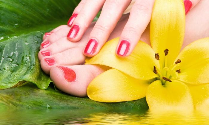 Elegance Nail Salon - Grafton: $35 for Gel Manicure and Spa Pedicure at Elegance Nail Salon ($70 Value)