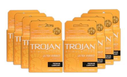 Trojan Ultra Ribbed Condoms Groupon