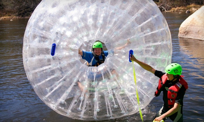 Kern River Rafting - Kernville: Whitewater River Tubing for Two with Optional Zorb River Experience from Kern River Rafting (Half Off)