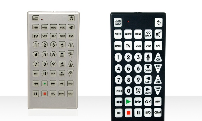 Jumbo Remote Control: Jumbo Remote Control in Black or Silver. Free Returns.