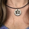 Custom Monogram Pendant Necklace with Leather Chain from LilyDeal.com
