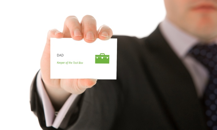 Groupon Chicago - Goose Island: Acknowledge Dad's Many Jobs with Groupon's Dad Business Cards