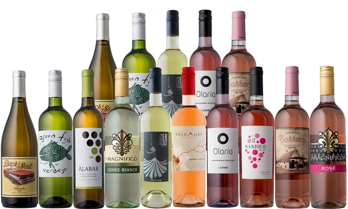 Splash Wines: 15-Bottle Rose, White & Red Wine Sampler Packages from Splash Wines (Up to 76% Off). Two Options Available.
