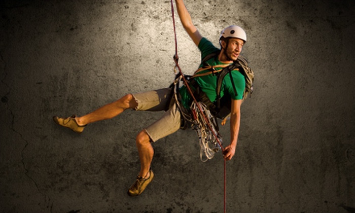 The North Texas Outdoor Pursuit Center - Carrollton: Two-Hour Rappelling Class and Two Hours of Rappelling for One, Two, or Four at The North Texas Outdoor Pursuit Center in Carrollton (Up to 55% Off)