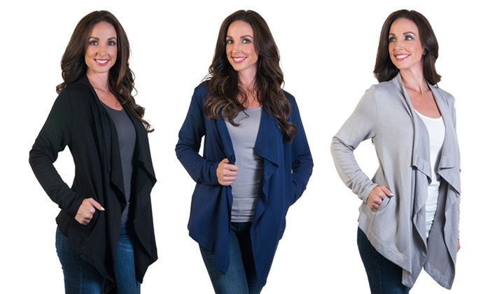 Women's Open-Front Cardigan | Groupon Goods