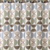 Cooper Geo Print Shower Curtain and Resin Hook Set