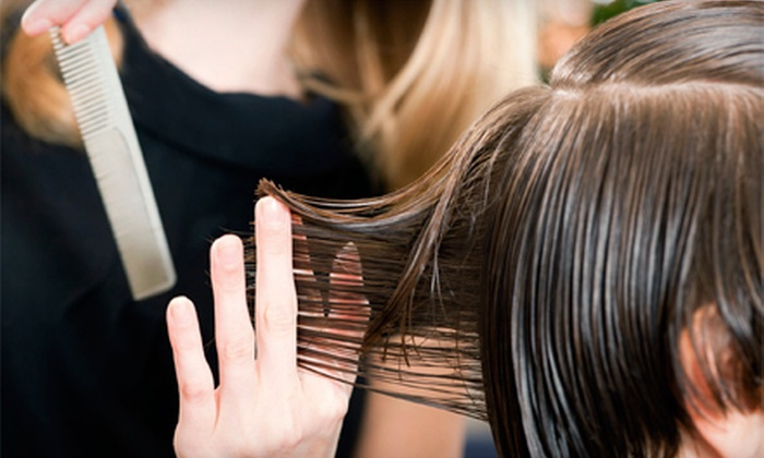 Monolo Hair Studio - Downtown Highland: $42 for a Haircut, Repair Treatment, and Full Color or Partial Highlights at Monolo Hair Studio ($120 Value)