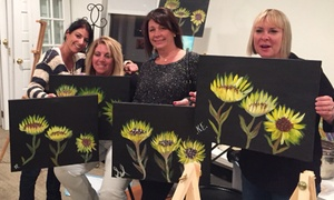 Christine's Wine and Paint Studio: BYOB Painting Party for One, Two, or Four at Christine's Wine and Paint Studio (Up to 53% Off)