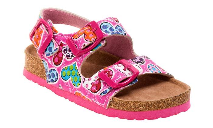 Rugged Bear® Girls' Footbed Thong Sandals: Rugged Bear® Girls' Footbed Thong Sandals (Size 6)