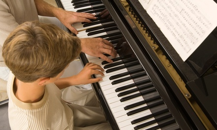Four or Six 30-Minute Private Music Lessons at Worldwide Piano (Up to 58% Off)