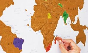 Cartina geografica Scratch-Map