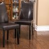 Marilyn Tufted Brown Leather Dining Chairs (Set of 2)