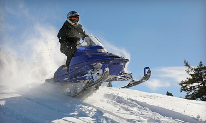 SledVentures Snowmobile Rentals - Lincoln: $79 for a Guided Snowmobile Tour for One from SledVentures Snowmobile Rentals ($149 Value). Two Options Available.