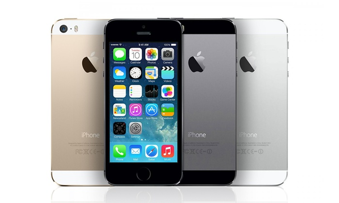 apple iphone 5s 16gb 32gb or 64gb smartphone gsm unlocked groupon. Black Bedroom Furniture Sets. Home Design Ideas
