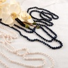 "100"" Genuine Freshwater Pearl Necklace with Bonus Pearl Earrings"