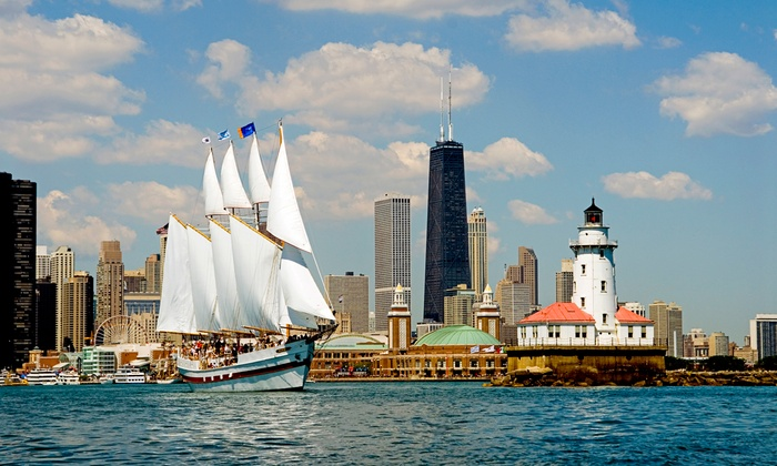 "Tall Ship Adventures of Chicago - Navy Pier: 75-Minute Sailing Tour on Tall Ship ""Windy"" (Up to 33% Off). Three Options Available."
