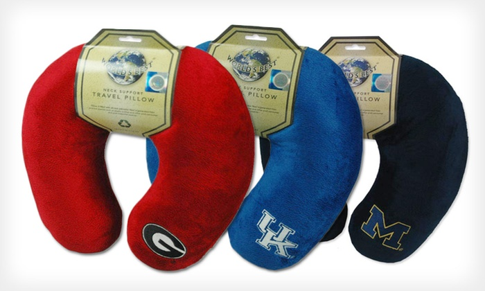 NCAA Neck Support Travel Pillow: $9.99 for an NCAA Neck Support Travel Pillow ($17.99 List Price). 29 Options Available.