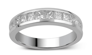 1.00 CTTW Princess-Cut Diamond Ring in 10K Solid White Gold