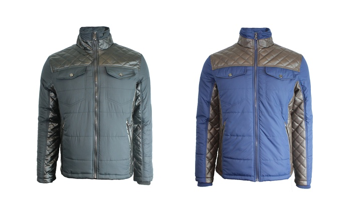 Spire By Galaxy Men's Quilted Jacket