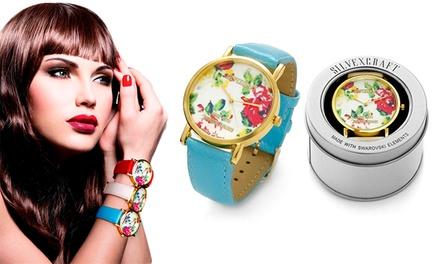 Relógio feminino modelo Flower por 12,99€ ou dois por 22,99€