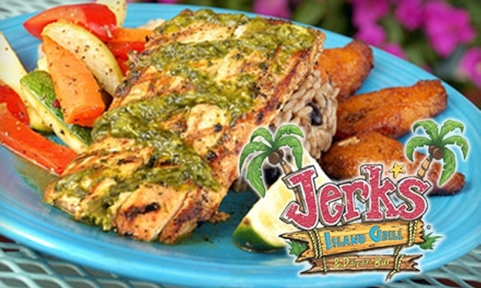 Jerk's Island Grill - New Orleans: $10 for $20 Worth of Caribbean Fare and Drinks at Jerk's Island Grill in Covington