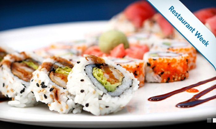 Tsunami - Annapolis: $20 for $40 Worth of Sushi and Asian-Fusion Fare or Four-Roll Sushi Sampler and Two Signature Cocktails at Tsunami in Annapolis