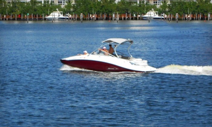 SeaRide Watersports - Central Fort Lauderdale: $149 for a Four-Hour Boat Rental from SeaRide Watersports ($299 Value)