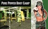 Pure Power Boot Camp - Multiple Locations: $80 for Six Sessions and a PPBC Shirt at Pure Power Boot Camp ($310 Value). Choose From Two Locations.