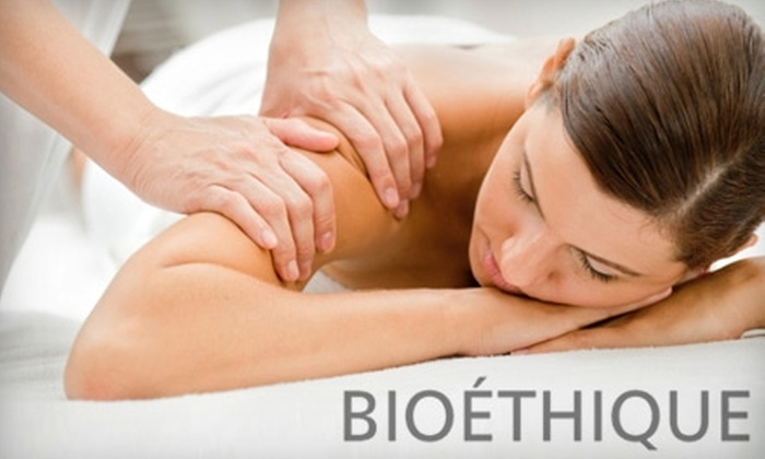 Bioéthique Certified Organic - Strathcona: $45 for a One-Hour Swedish or Hot Stone Massage at Bioéthique Certified Organic ($90 Value)