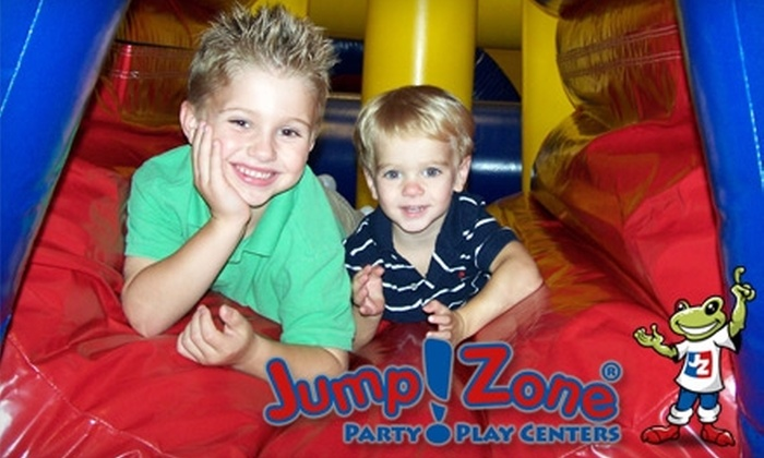 Jump!Zone Party Play Centers - Multiple Locations: $30 for Six Open Play Sessions at Jump!Zone (Up to $60 Value). Choose From Six Locations.