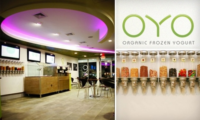 OYO - North Jersey: $5 for $10 Worth of Organic Frozen Yogurt from OYO
