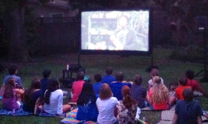 Games2U - Goose Island: $195 for a Two-Hour Backyard Movie Party with High-Definition Projector, Screen, and Popcorn from Games2U ($450 Value)